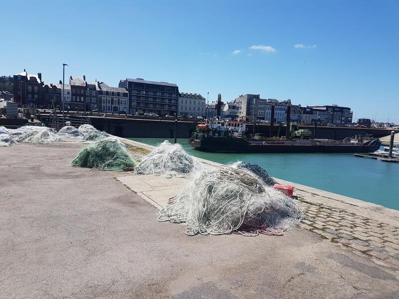 Valorisation des filets de pêche Fecamp Normandie