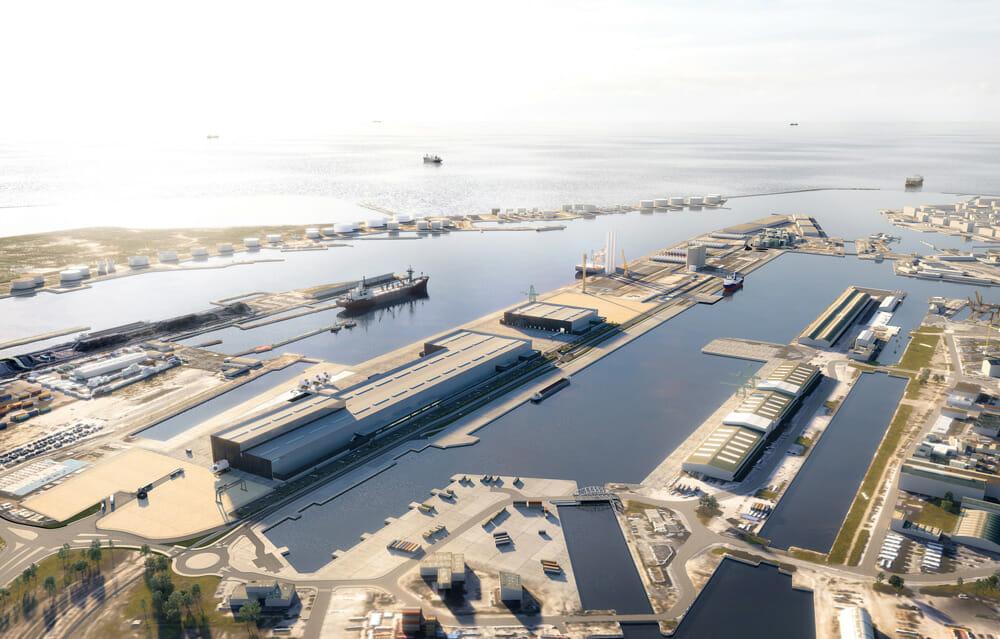 Simulation usine eoliennes Siemens Gamesa Le Havre Normandie