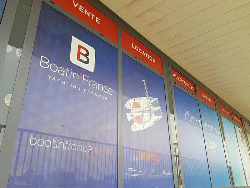 Bureauxde Boatin'France au Havre, entreprise du nautisme qui loue des voiliers