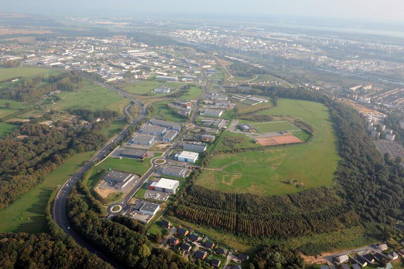 Vue aérienne du parc de l'Estuaire à Gonfreville l'Orcher