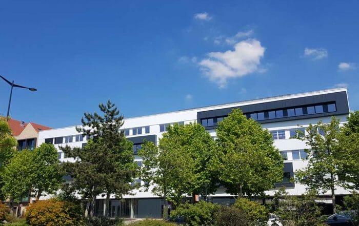 Quai Marceau, un immeuble de bureaux neufs dans le quartier des Docks au Havre (Normandie)