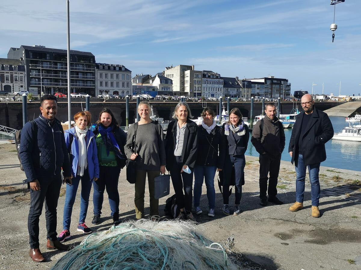 Réunion de lancement de la phase de test du projet FIRENOR à Fécamp pour le recyclage de filets de pêche usagés